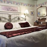 Inviting, cozy bed at Franklin Street Inn