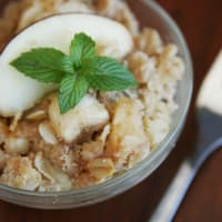 oatmeal with mint