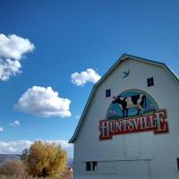 Painted barns in Huntsville Utah