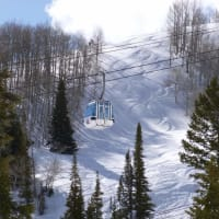 High speed  ski Lifts at Snow Basin