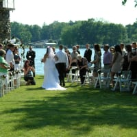 wedding on grass area