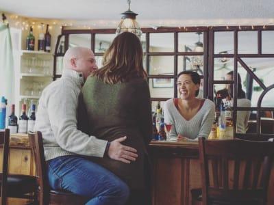 Rustic, cozy tavern