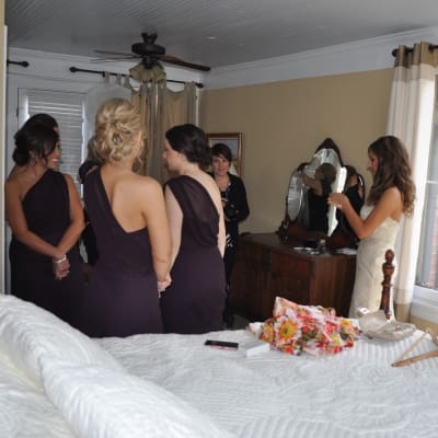 Almost ready a moment with bridal party