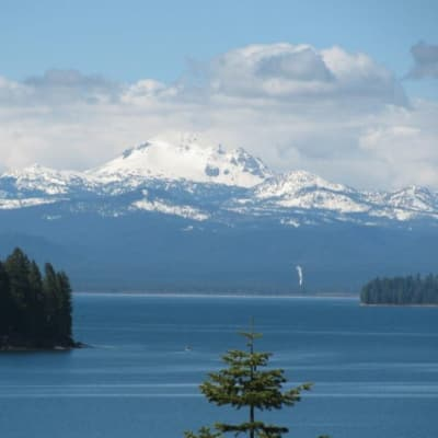 Lake Almanor with Lassen Peak