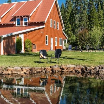 small pond St. Bernard Lodge