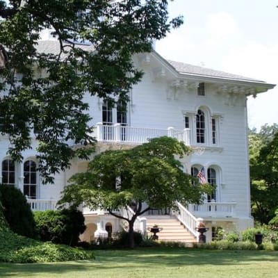 The 9200 square foot Manor House  on a beautiful day