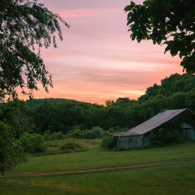 The Mayhurst at Sunset.