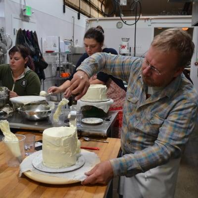 people making cakes