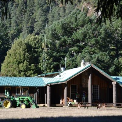 outside the lodge