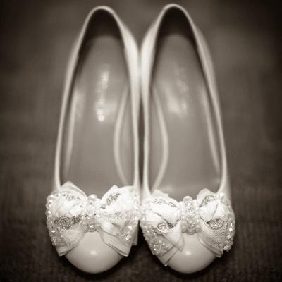Bride's Shoes Photo
