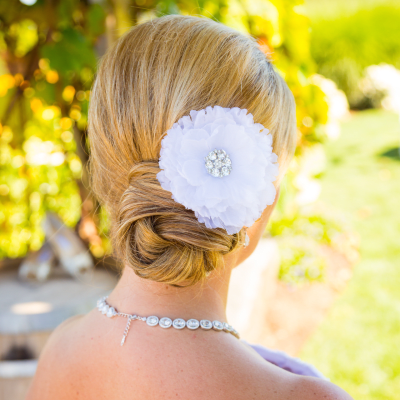 A bride hair style photo