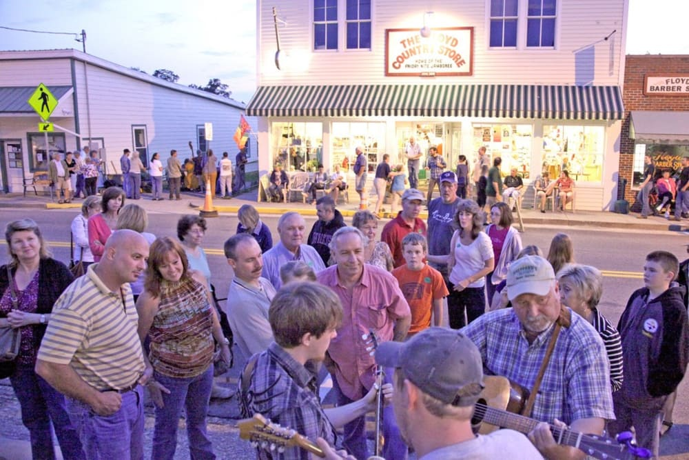 FLOYD, THIRD HAPPIEST LITTLE MOUNTAIN TOWN....WE THINK IT SHOULD BE #1