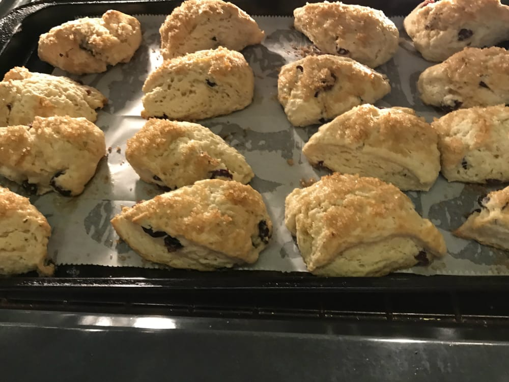 Cranberry Scones with Cranberry Butter at Ypsilanti's Parish House Inn