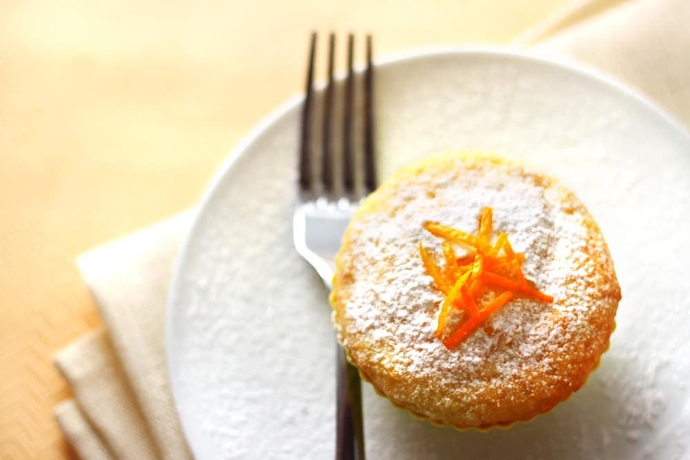 Mandarin Orange Upside - Down Muffins