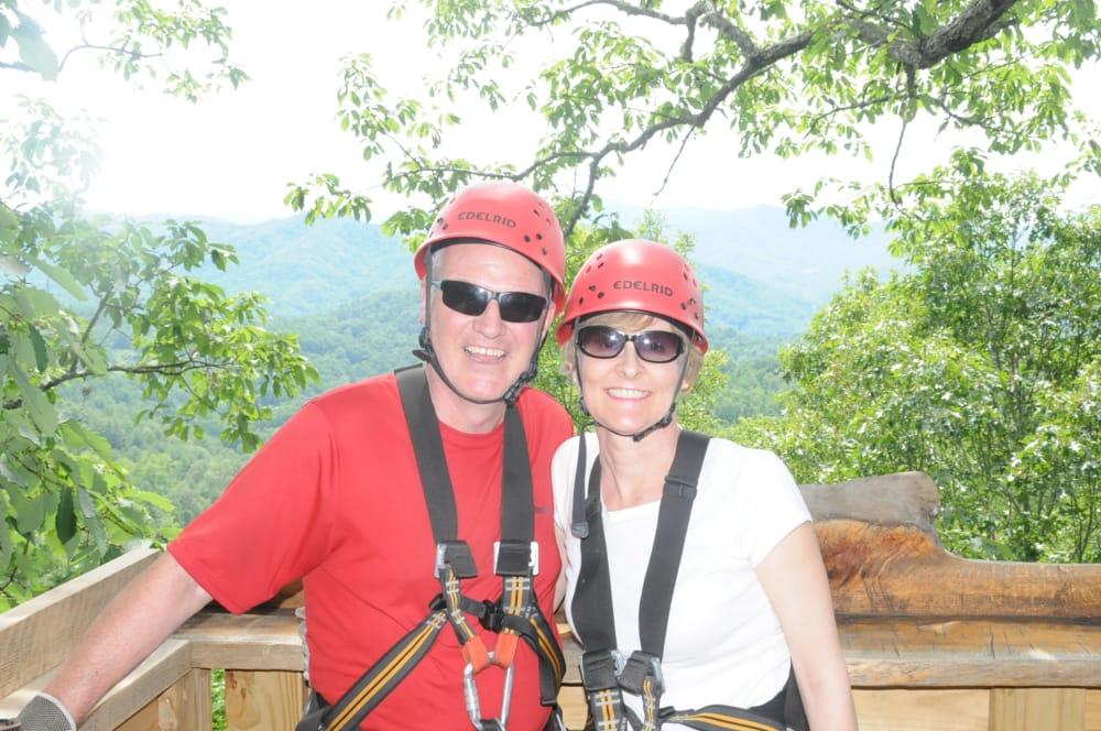 Pinecrest B&B goes Ziplining in Asheville!
