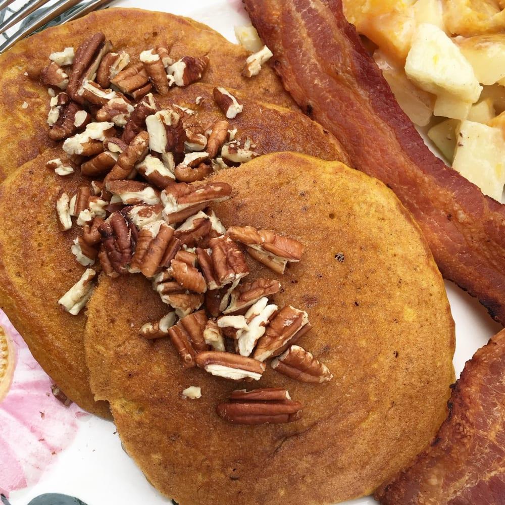 Let's Eat:  Sweet Potato Pancakes!