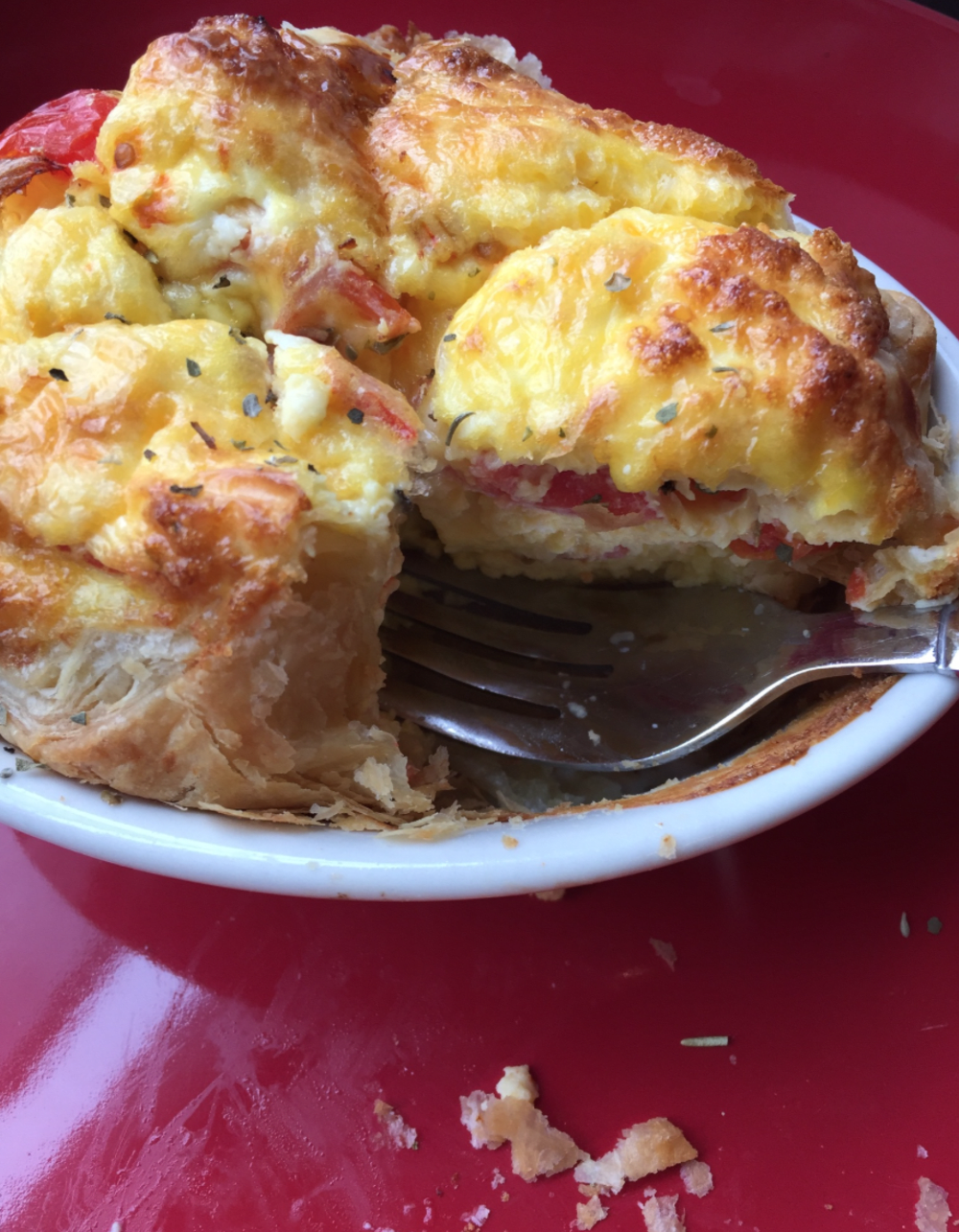 Great Easter Breakfast - Egg Souffle In Puff Pastry