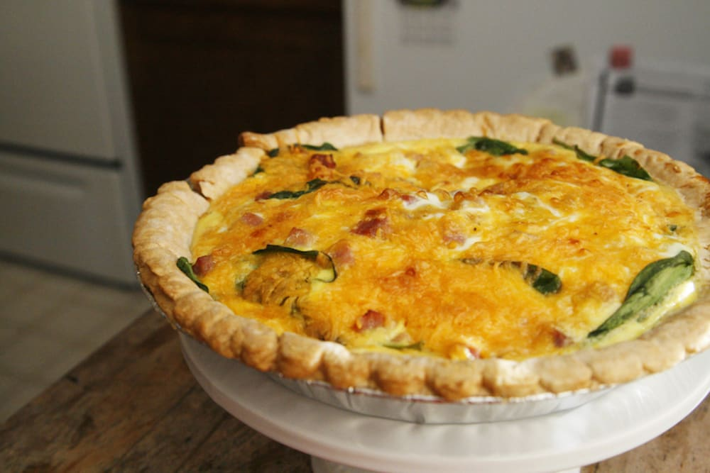 Ham, Spinach and Cheese Quiche