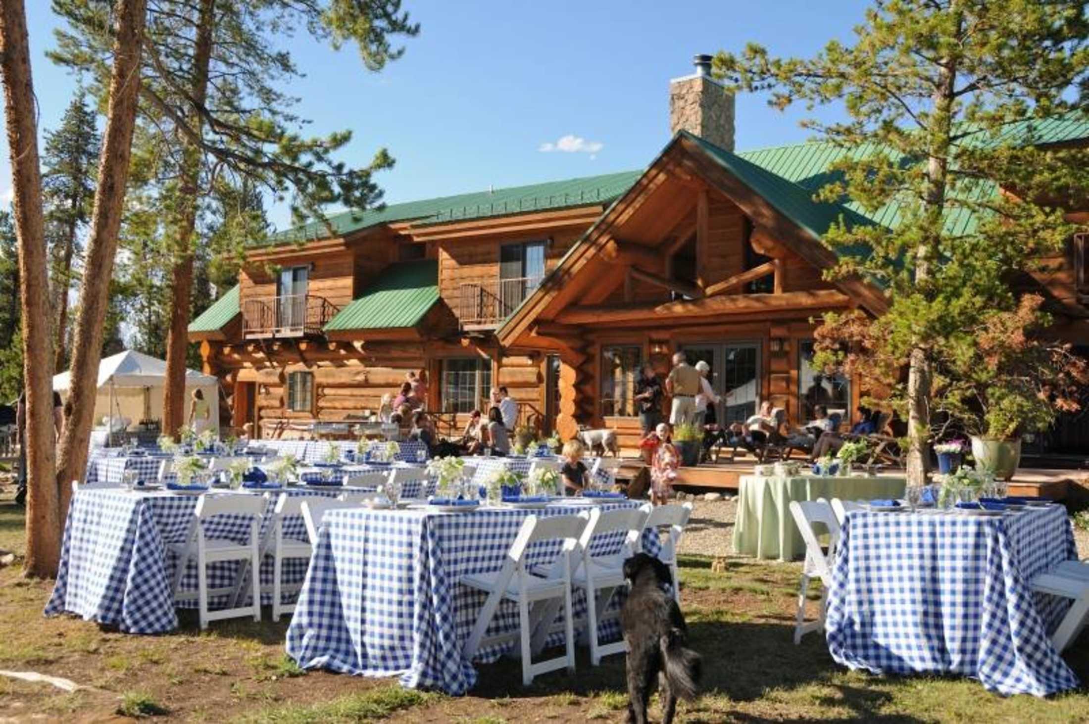 wedding venue in the rocky mountains wild horse inn
