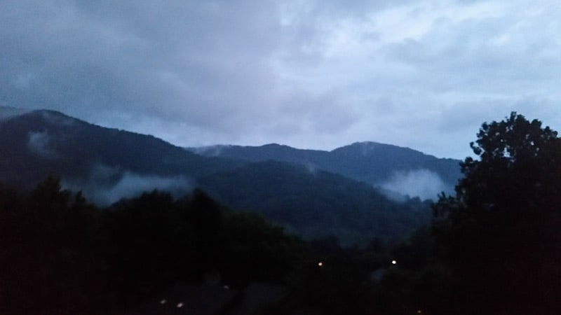 Nightfall in the mountains!