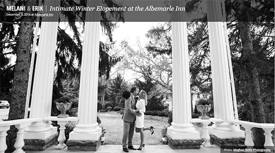 Intimate Winter Elopement at the Albemarle Inn
