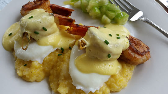 Shrimp and Grits Eggs Benedict