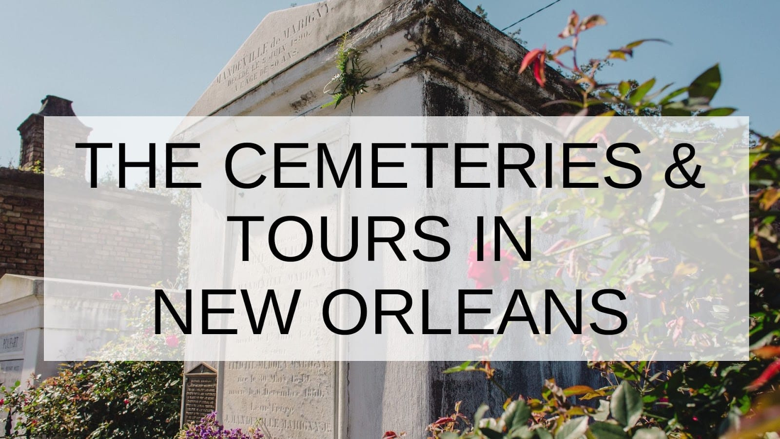 The Cemeteries & Tours in New Orleans